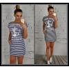 Платье- полоска 140