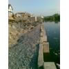 Укрепление берегов . строительные работы