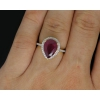Золотое кольцо с бриллиантами и рубином.